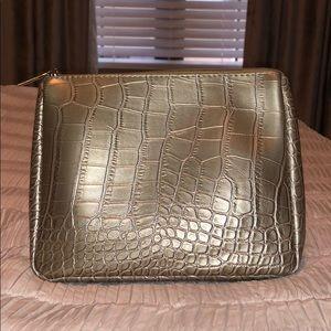 Snakeskin Leather Make Up Bag